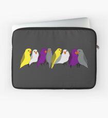Pride Lovebirds - Nonbinary Pride Rainbow Laptop Sleeve