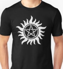 Supernatural Anti-possessionTattoo in white Unisex T-Shirt
