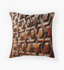 Wooden Door on a Coptic Church Throw Pillow