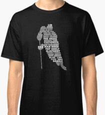 Hockey Player Terminology Calligram Classic T-Shirt