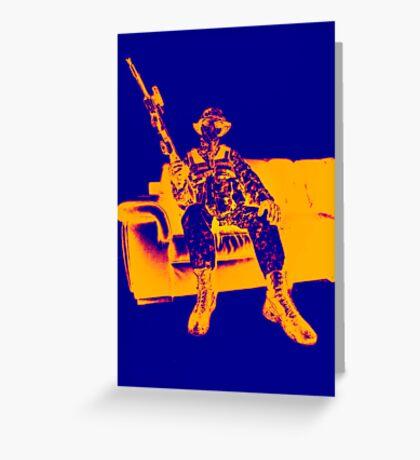Boy Soldier 2 Greeting Card