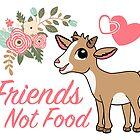 Vegane Freunde ohne Essen - süße Ziege von epitomegirl