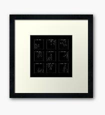 SSH fingerprints: Randomarts Framed Print