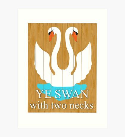 The Swan With 2 Necks Art Print
