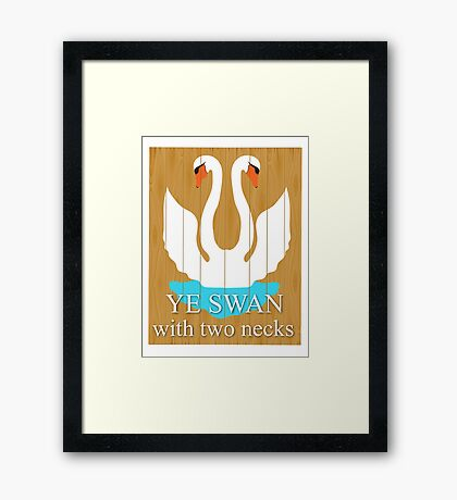 The Swan With 2 Necks Framed Print
