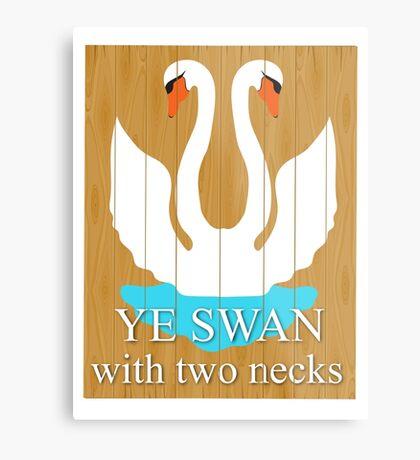 The Swan With 2 Necks Metal Print