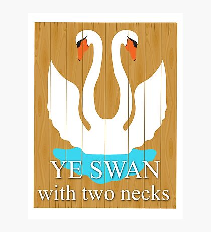 The Swan With 2 Necks Photographic Print