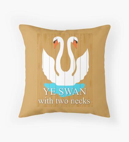 The Swan With 2 Necks Throw Pillow