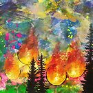 Donnell (Fire in Tuolumne County, CA in Aug-Oct 2018) by pottsart