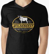 Serengeti-Gnu T-Shirt mit V-Ausschnitt für Männer