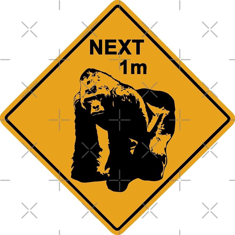 Gorilla road sign by Port-Stevens