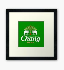 Chang Beer Thailand Framed Print
