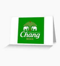 Chang Beer Thailand Greeting Card
