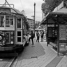 Christmas Tram - Christchurch New Zealand by Paul Gilbert