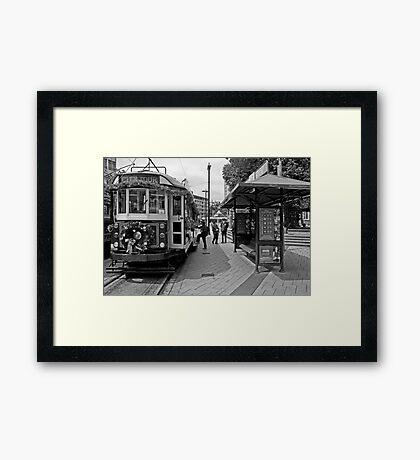 Christmas Tram - Christchurch New Zealand Framed Print