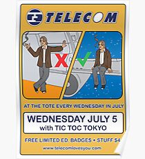 Telecom July Wednesday Residency at The Tote 2006: July 5  Poster