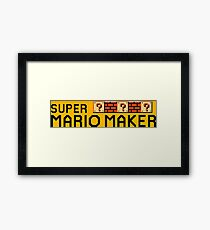Super Mario Maker Framed Print