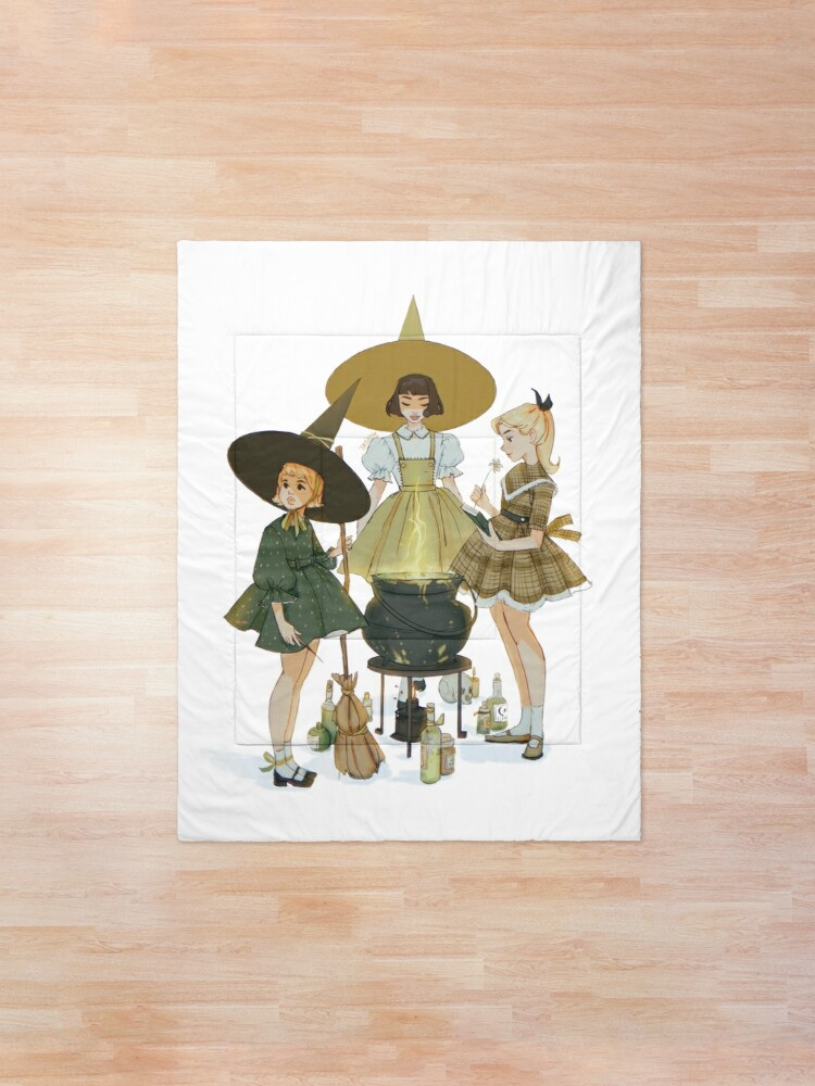 Alternate view of vintage witches ii Comforter