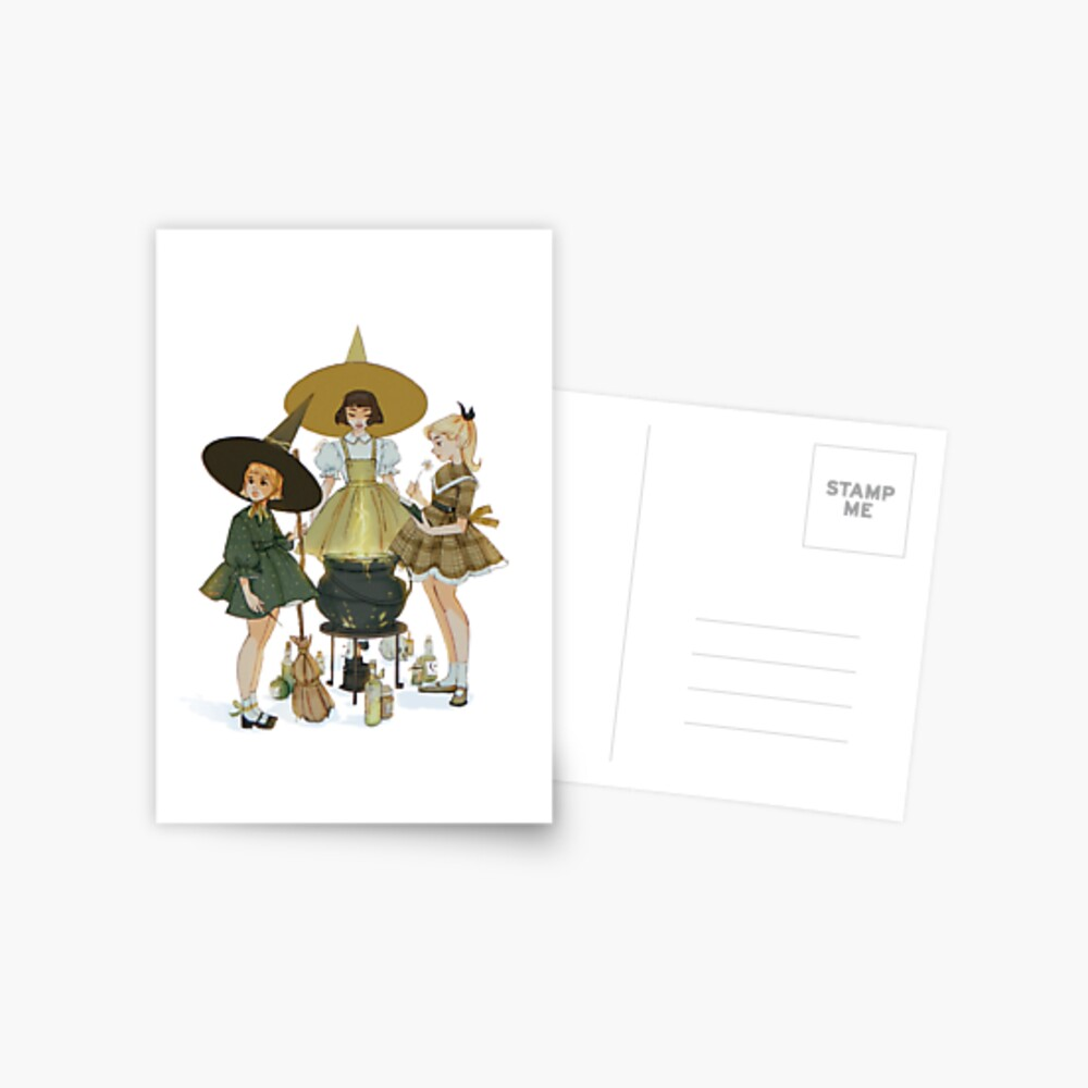 vintage witches ii Postcard