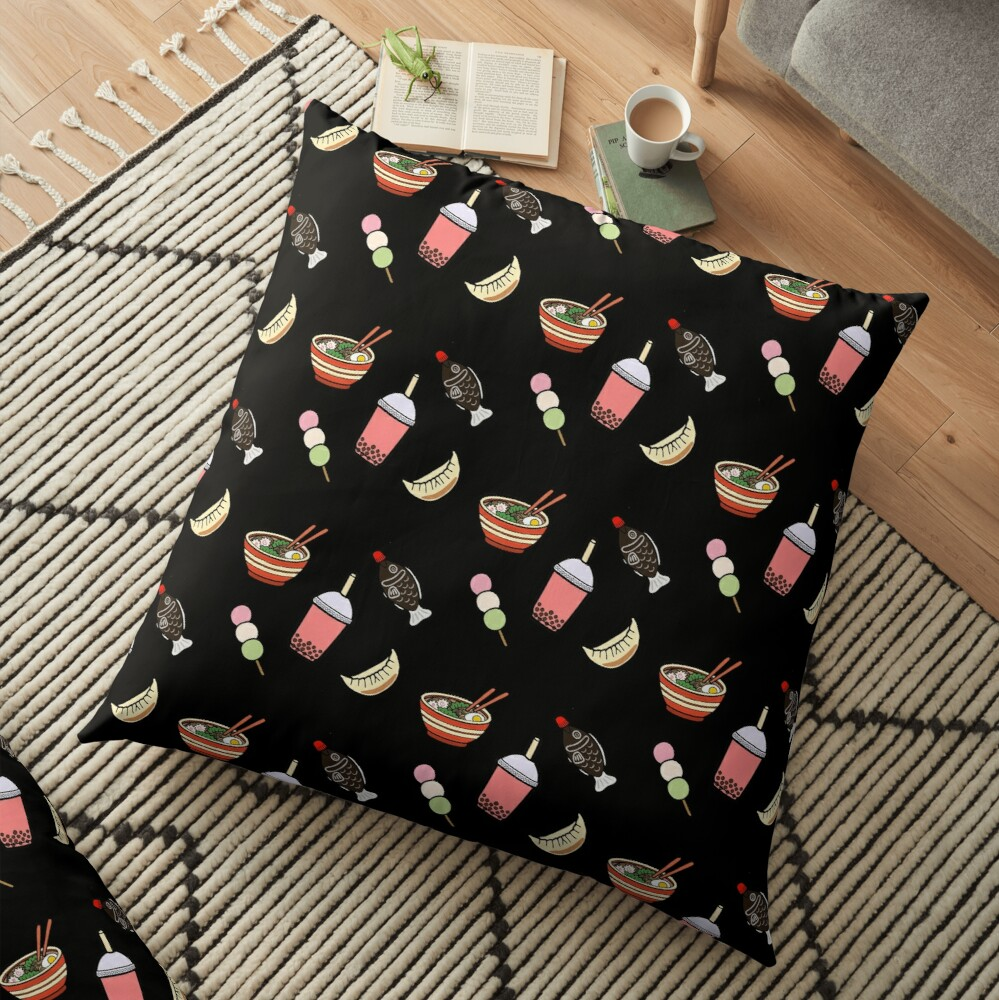 Japanese Food & Drink Floor Pillow