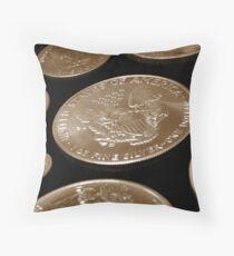 Coins Throw Pillow