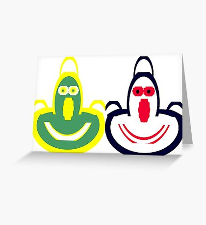 Funny Face Aprons Greeting Card