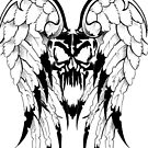 winged skull by michele8889