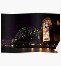 Sydney Harbour Light Show Poster