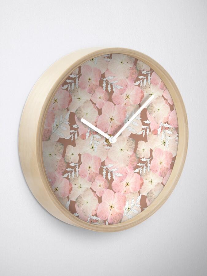 Alternative Ansicht von Hortensie Pastell Uhr