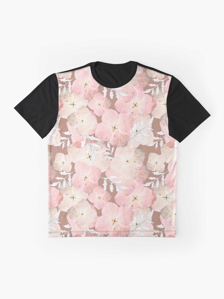 Alternative Ansicht von Hortensie Pastell Grafik T-Shirt