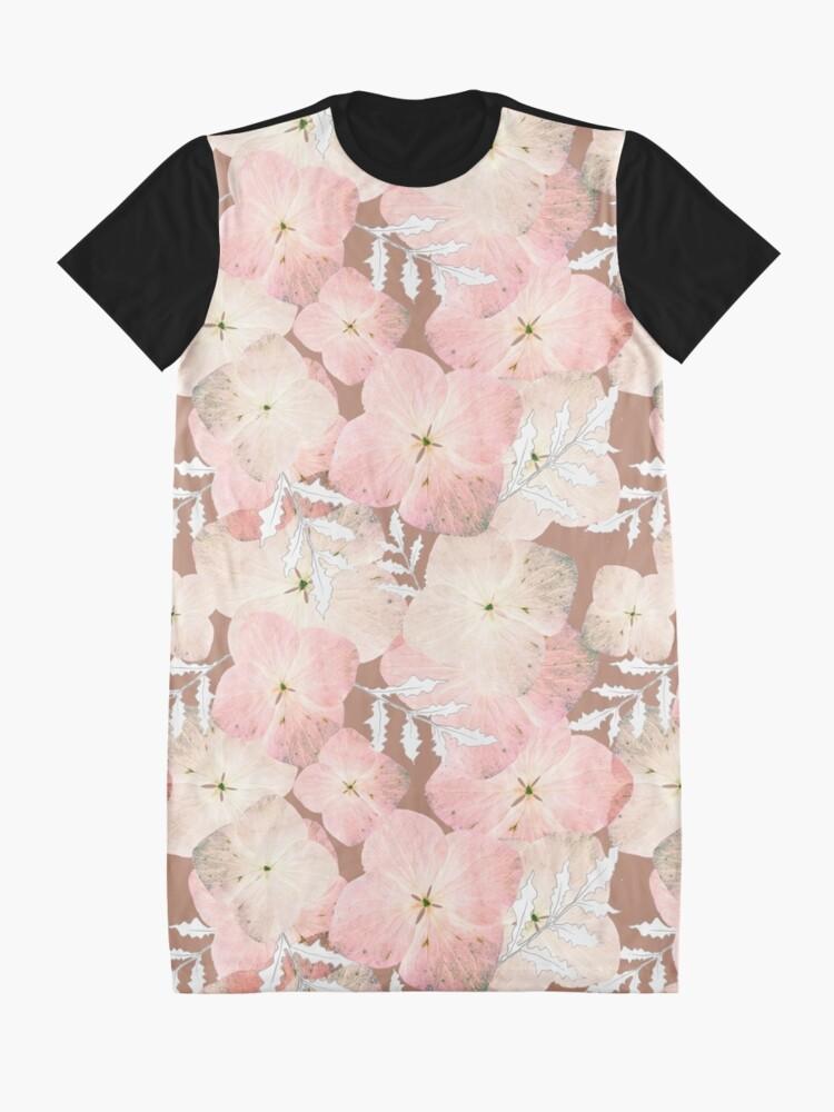 Alternative Ansicht von Hortensie Pastell T-Shirt Kleid