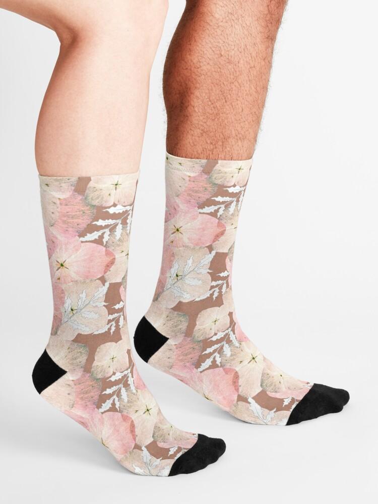 Alternative Ansicht von Hortensie Pastell Socken