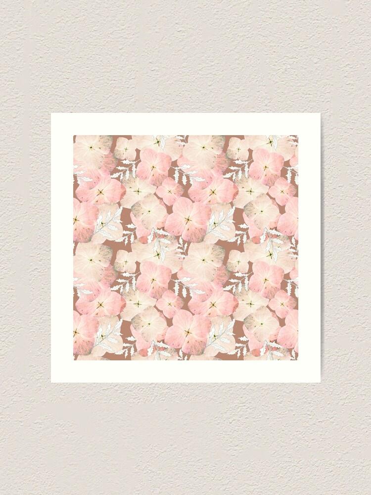 Alternative Ansicht von Hortensie Pastell Kunstdruck