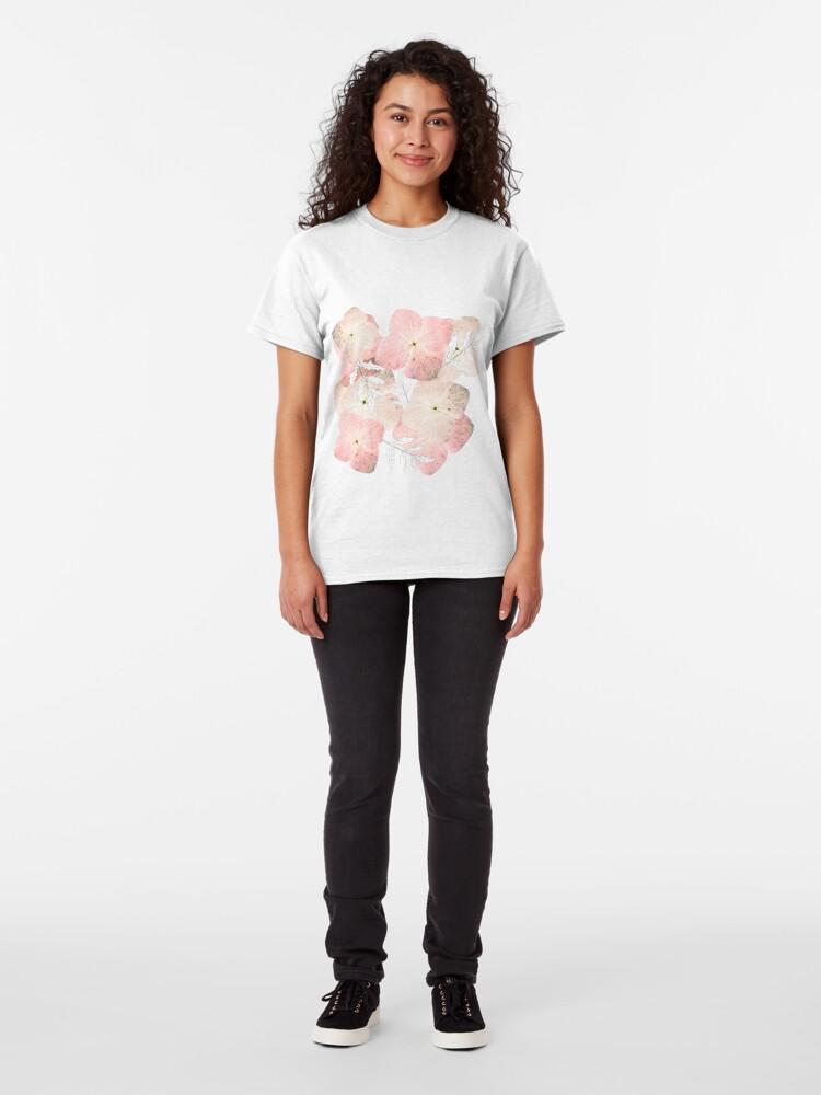 Alternative Ansicht von Hortensie Pastell Classic T-Shirt
