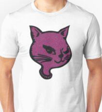 Winking Cat Pink Unisex T-Shirt