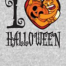 I Heart Halloween - Pumpkin by Scribblescribe