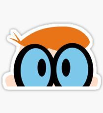 Dexter, scientist, genious character in Dexters Laboratory, series on Cartoon Network Sticker