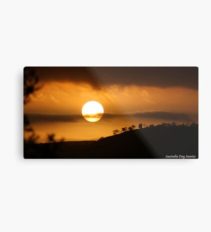 Australia Day Sunrise Metal Print