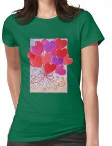 Heart Balloons  Womens Fitted T-Shirt