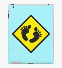cute warning sign of feet iPad Case/Skin