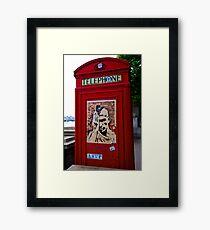 Anarchy U.K. Phone Booth - London Framed Print