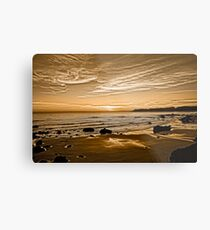 Sunset On The Central Coast OF Calif Metal Print