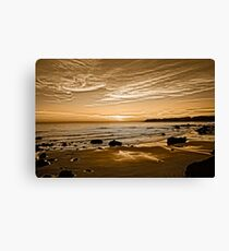Sunset On The Central Coast OF Calif Canvas Print