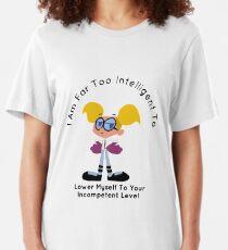Camiseta ajustada Dee Dee Soy demasiado inteligente Laboratorio de Dexter