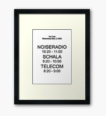 Telecom's First Show Framed Print