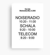 Telecom's First Show Canvas Print