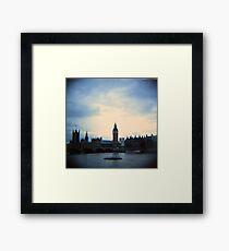 Big Ben - Cross Processed Framed Print