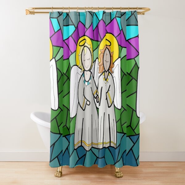 A Pair of Angels Shower Curtain