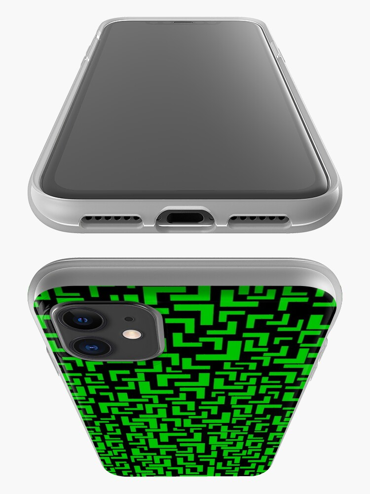 Alternate view of Glitches in the Void, Green iPhone Case & Cover
