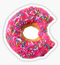 Dark Pink Doughnut Sticker